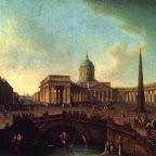Вид Казанского собора в Петербурге 1811 г. ГРМ