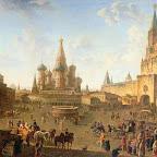Красная площадь в Москве 1801 г. ГТГ