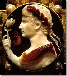 古羅馬以瑪瑙雕刻的奧古斯都像
