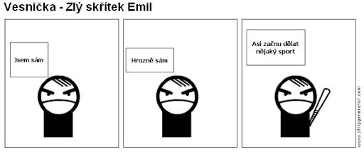 Komiks Vesnička - Zlý skřítek Emil