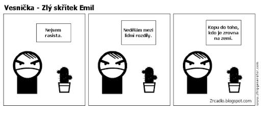 Komiks Vesnička - Zlý skřítek Emil není rasista