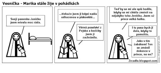 Komiks Vesnička - Marika stále žije v pohádkách.
