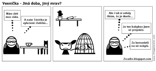 Komiks Vesnička - Jiná doba, jiný mrav.