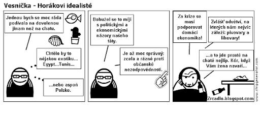 Komiks Vesnička - Horákovi idealisté