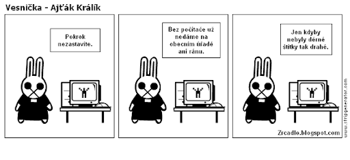Komiks Vesnička - Ajťák Králík.