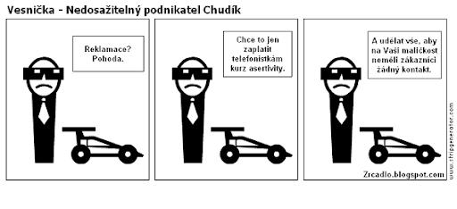 Komiks Vesnička - Nedosažitelný podnikatel Chudík.
