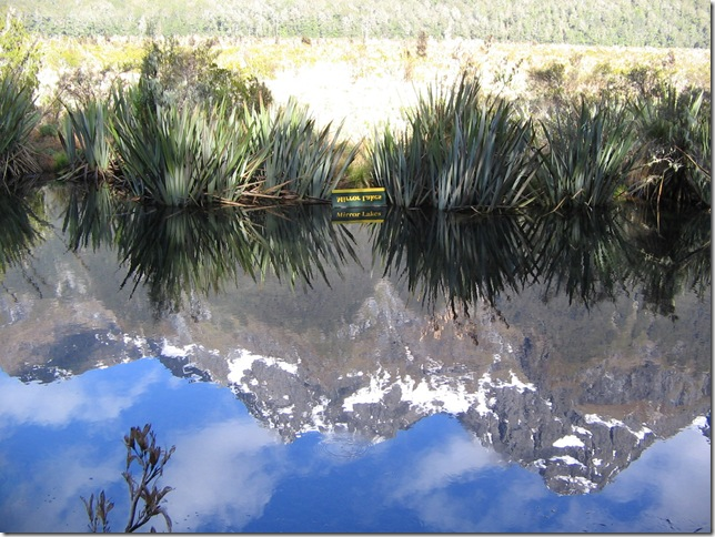 Mirror Lakes, on the way to Milford Sound