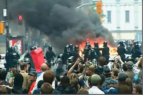 Manifestantes em Toronto contra o G20 (2)