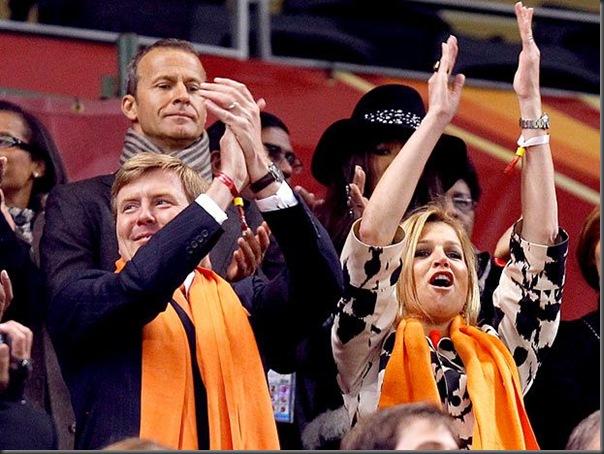 Willem Alexander e a princesa Maxima