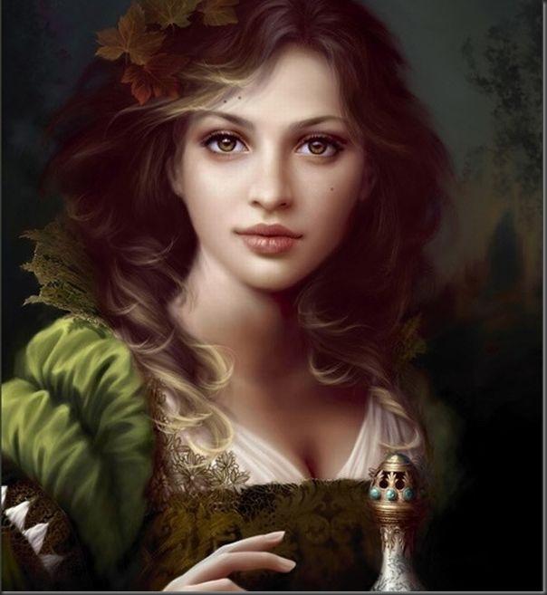 Desenhos realistas de belas garotas (7)