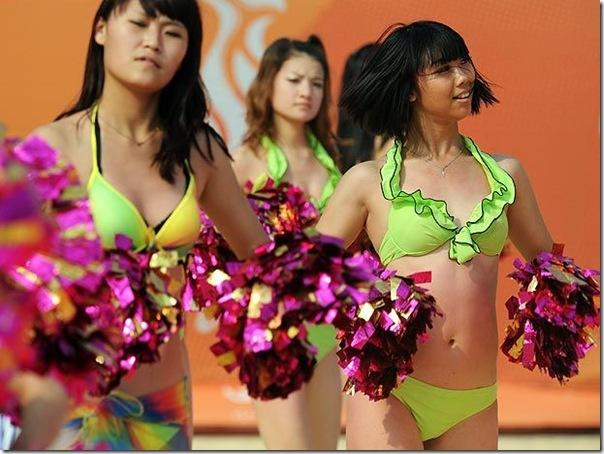 Cheerleaders dos jogos asiaticos