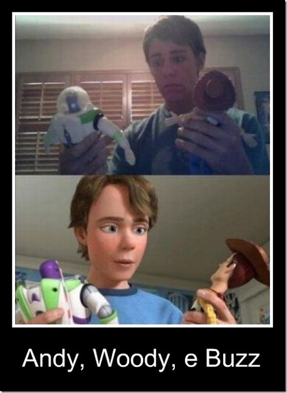 Andy, Woody, and Buzz
