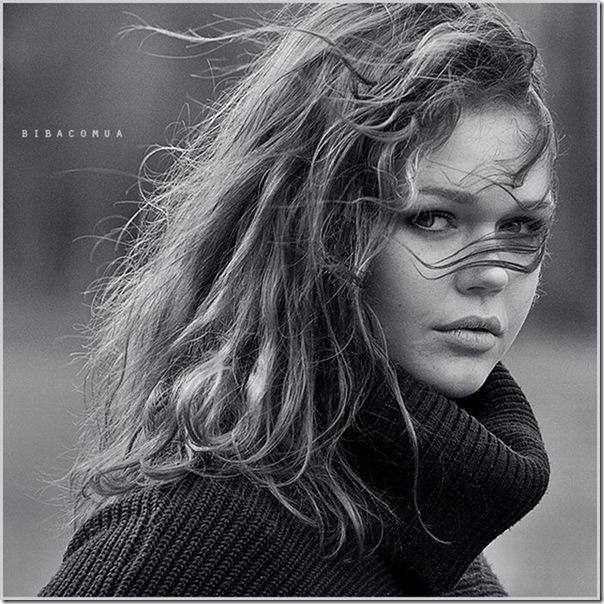 Belíssimos retratos de garotas em preto e branco (9)
