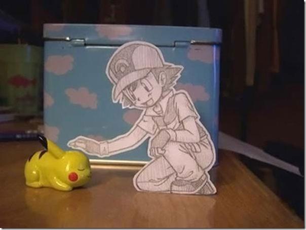 Personagens animados de cortes em papel (13)