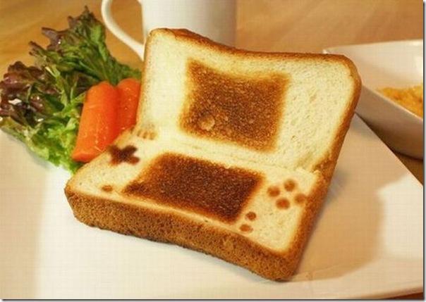 pão torrado de um nerd