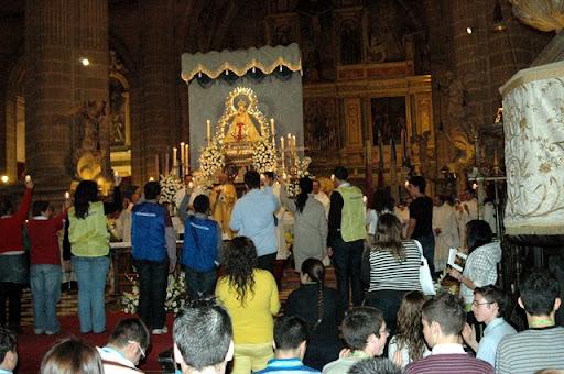 Misa de la Vigilia de Jóvenes con la Virgen de la Cabeza (20 de noviembre de 2009)