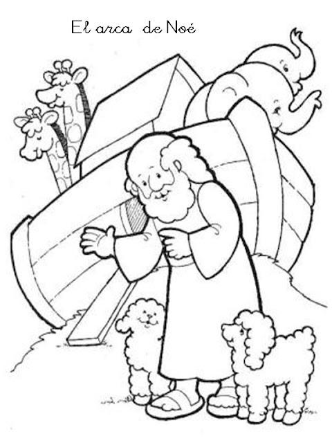 peques y pecas     colorea el arca de noe
