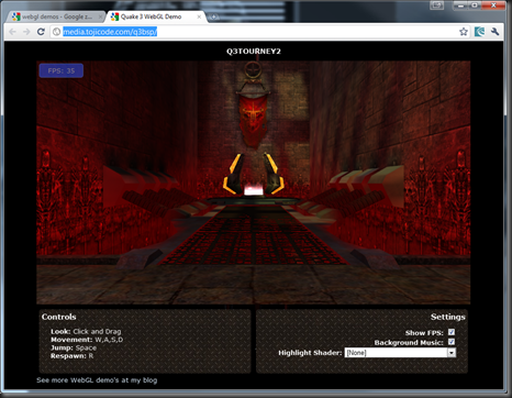 WebGL Quake 3 level