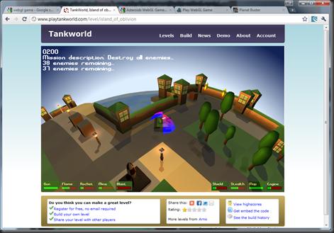 WebGL Tankworld