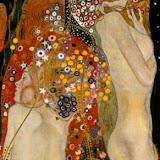 Gustav Klimt Serpientes de agua II