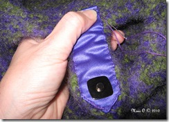 Hand Sewing Lining to Purse
