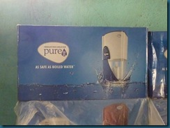 Pure water filter. At over Rs.2000 it is way too expensive.