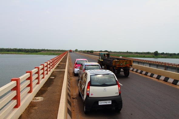 On Godavari River Bridge, Andhra Pradesh