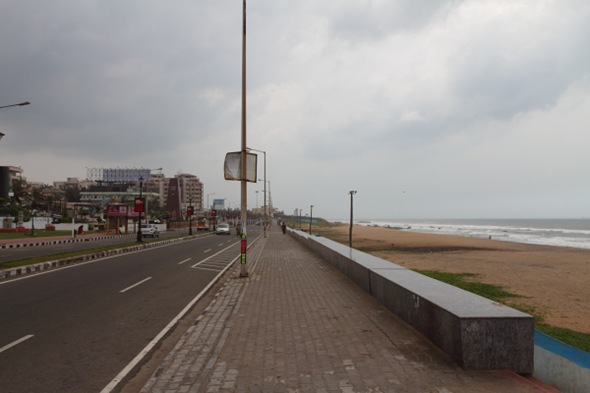 Lovely Marine Drive (Beach Road) of Visakhapatnam, India