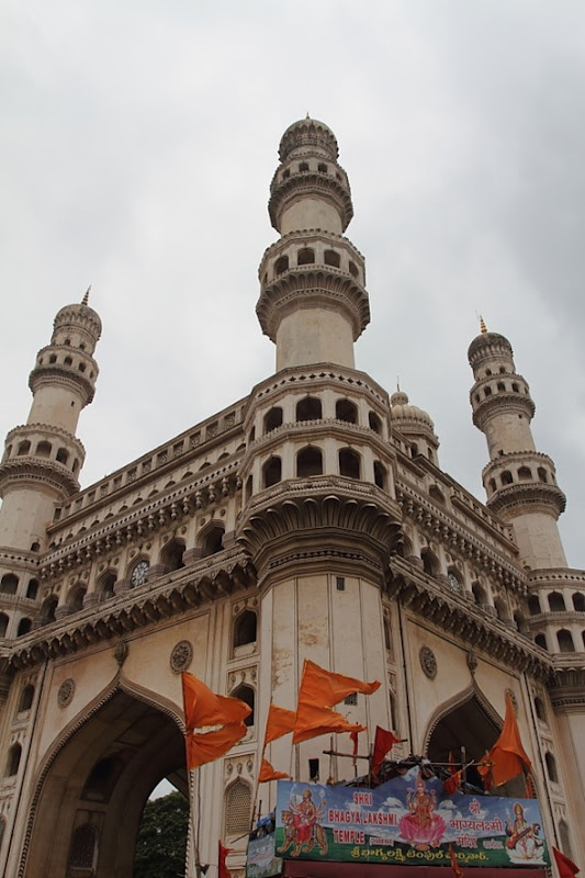 Hindu Temple at the bottom of Charminar