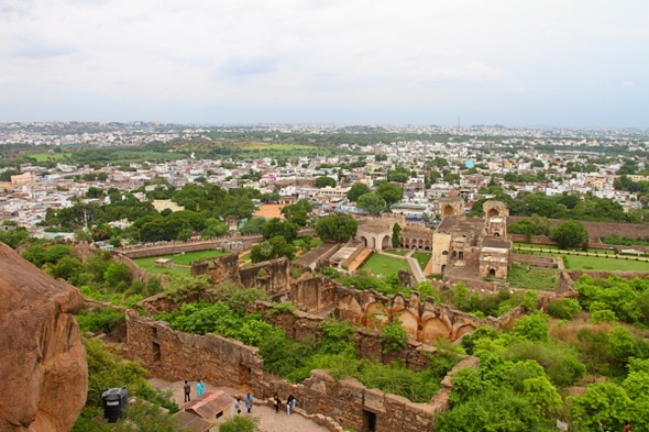 View from Midway climb at Golconda Fort