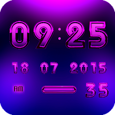 Digital Clock Widget A-PURPLE