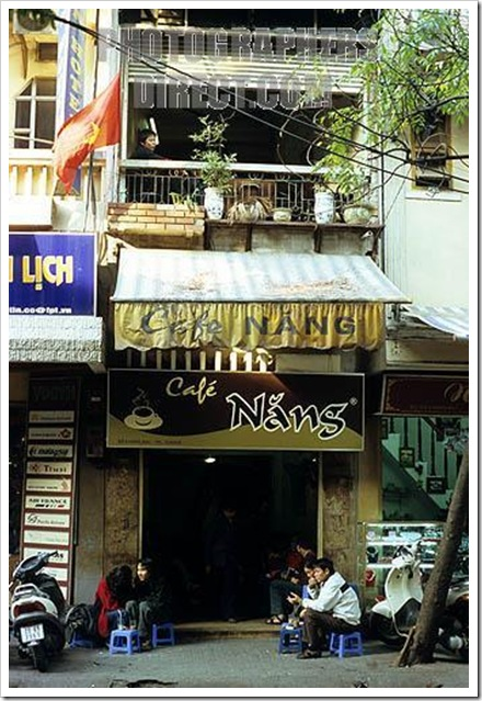 Hanoi Old Quarter, Hoan Kiem district, Viet Nam - Café Nang, a small popular Vietnamese coffee shop in Hang Bac St