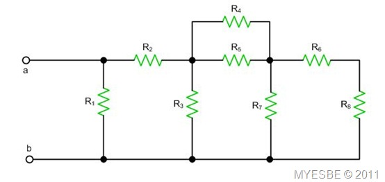 myesbe  equivalent resistances  basic circuit  series and parallel connections