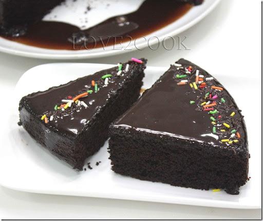 Chocolate cake recipe written in english
