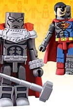 Mini-Mates Steel and Cyborg Superman