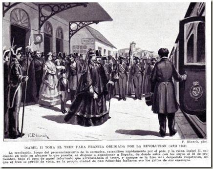 Isabel II abandona España - 1868