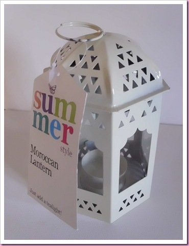 Poundland Moroccan Lamp