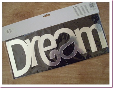 Dream self adhesive mirrored word