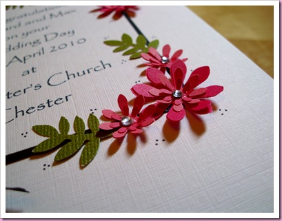 Close Up Wedding card