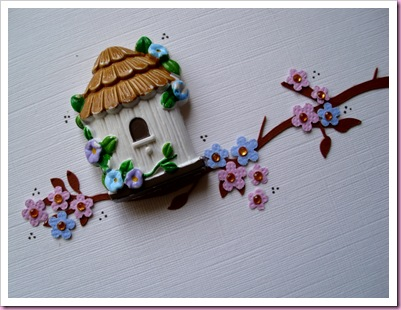 Bird House Card Close Up