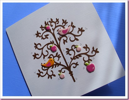 Birds in Tree Card