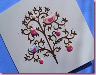 Birds in tree Card 1