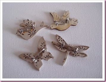 Wooden Embellishments with pin back