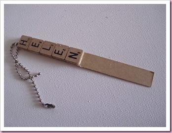 Scrabble keyring