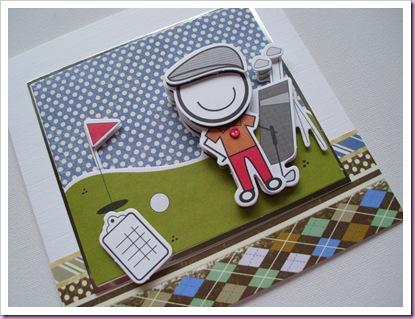 Smirk Golfer card
