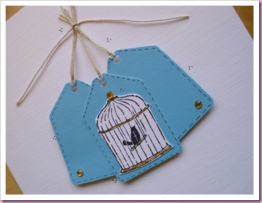 Bird Cage Tag Card