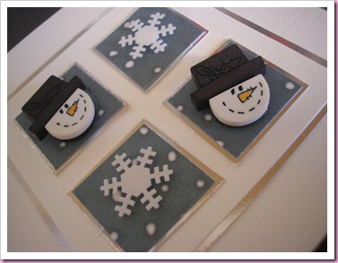 Christmas Cards with snowman buttons