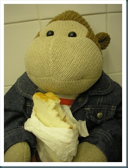 Mums Monkey with Sandwich