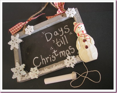 Advent Chalk Board