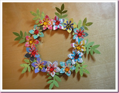 Its All Fiddle Fart Small Paper Flower Wreath